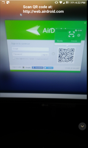 scan qr code airdroid